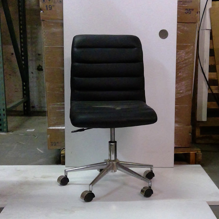 Sale Armless Leather Task Chair #2021   Office Furniture Heaven