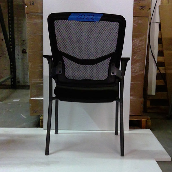 Sale Visitor's Black Mesh Chair with Black Fabric Seat #2022 - Office Furniture Heaven