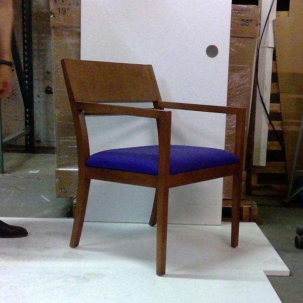 Sale Rhyme Visitor's Chair with Purple Seat #2026 - Office Furniture Heaven