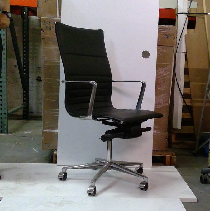Sale Leather Mid Back Chair #2030 - Office Furniture Heaven