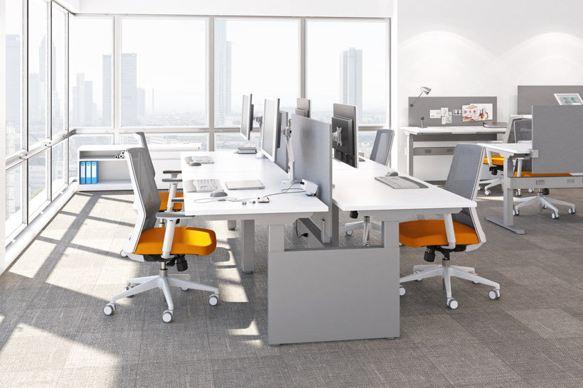 Systems KINEX Adjustable Height Desk - Office Furniture Heaven