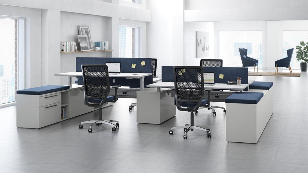 Systems Staks Adjustable Height Desk - Office Furniture Heaven