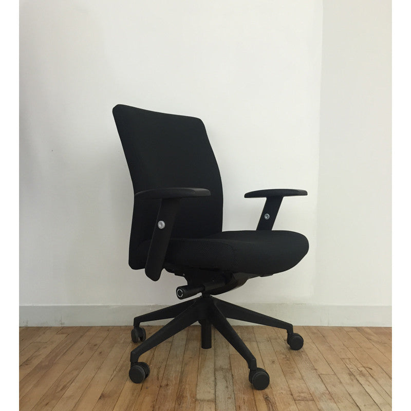 Black Upholstered Chair Floor Sample - Office Furniture Heaven