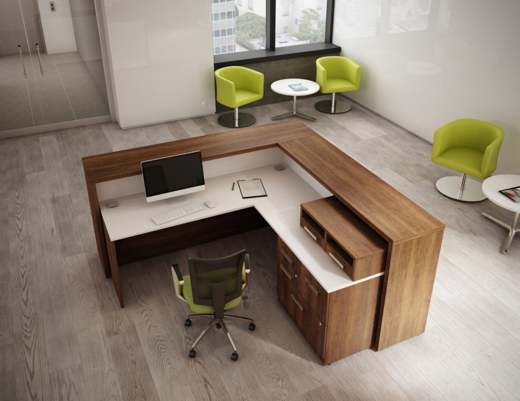 Desks M-Brace Reception - Office Furniture Heaven