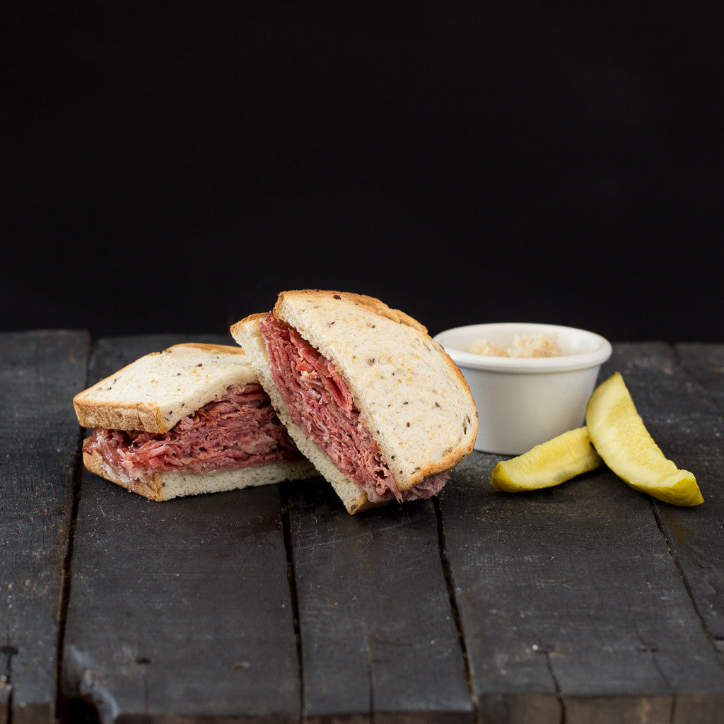 Cleveland's Best Corned Beef on Rye at Giuseppe's Pizza