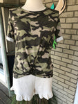 Camo Knot Front Tee