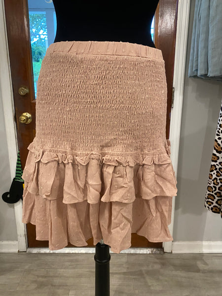 Light Pink ruffle skirt