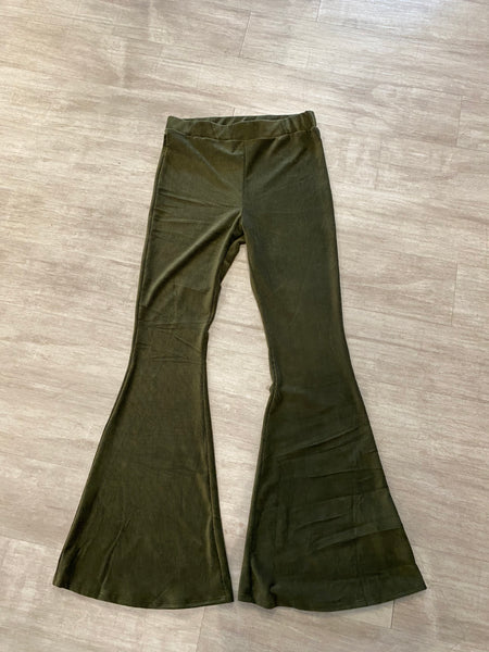 Green corduroy Bell bottoms