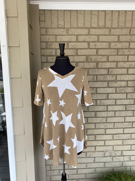 Beige Star top