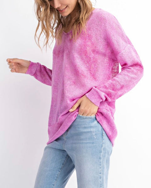 Pink Peacock Sweater
