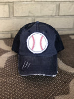 Navy Baseball Trucker