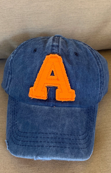 Auburn Distressed Hat
