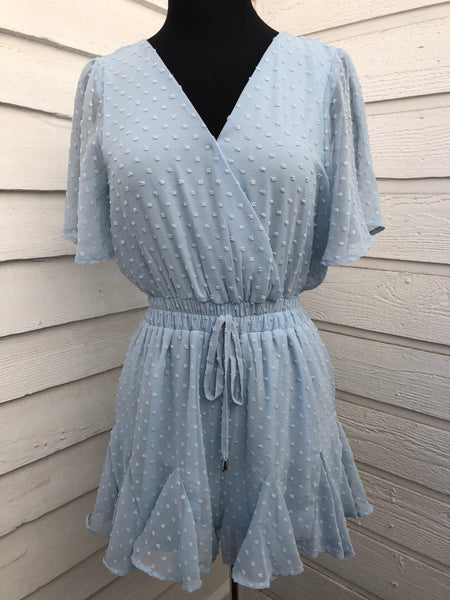 Blue Dot Romper