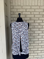Leopard Sleeveless top
