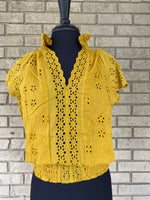 Mustard Lace top