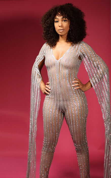 Vegas Nights Glitter Catsuit
