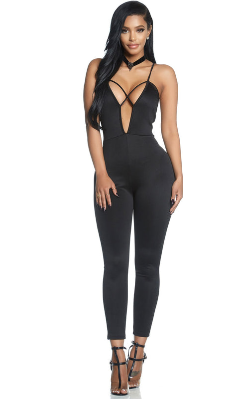 Jumpsuit - Cross Your Heart Strappy Jumpsuit (PRE-ORDER)