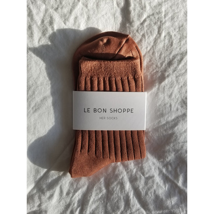 Le Bon Shoppe Her Socks in Caramel
