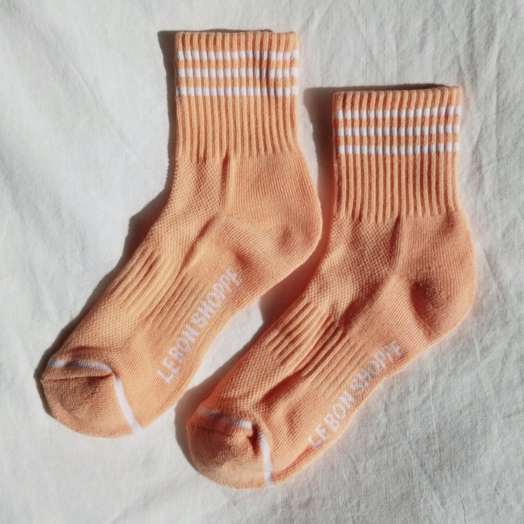 Girlfriend Socks in Grapefruit By Le Bon Shoppe