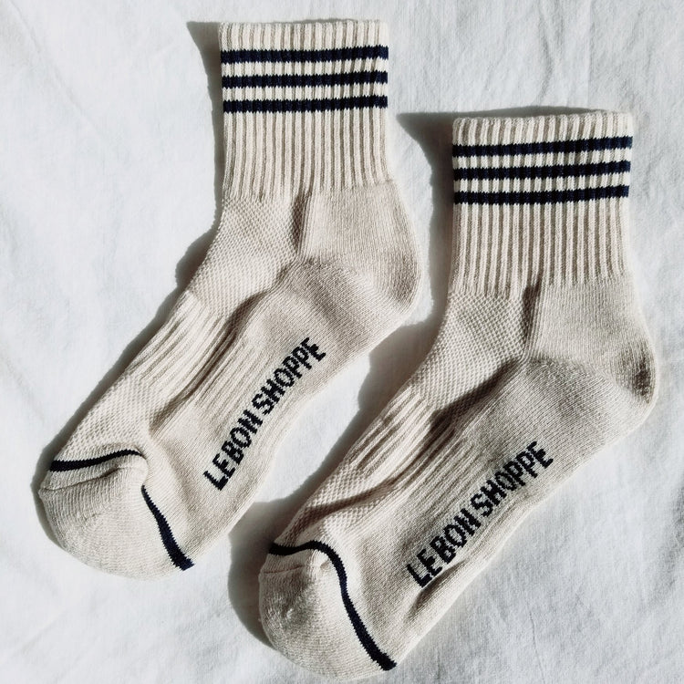 Girlfriend Socks in Oatmeal By Le Bon Shoppe