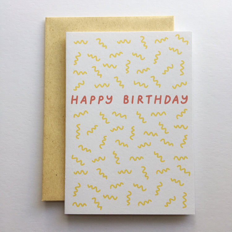 Birthday Squiggle Card