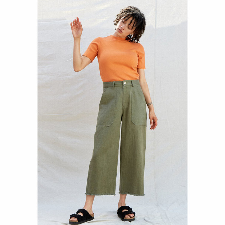 Utility Pant in Sage  By Back Beat Rags