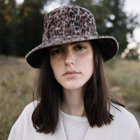 Mink Bucket Hat in Shag Felt By BROOKES BOSWELL