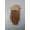 Half Moon w/ Botanically Dyed Fringe Wall Hanging By Karcass