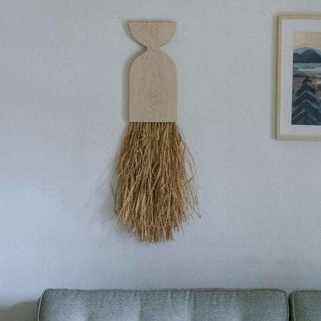 Maple Raffia Fringe Wall Hanging By Karcass