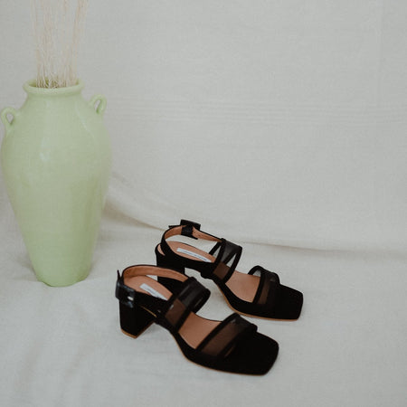 Pruna Mesh Sandal In Black By About Arianne