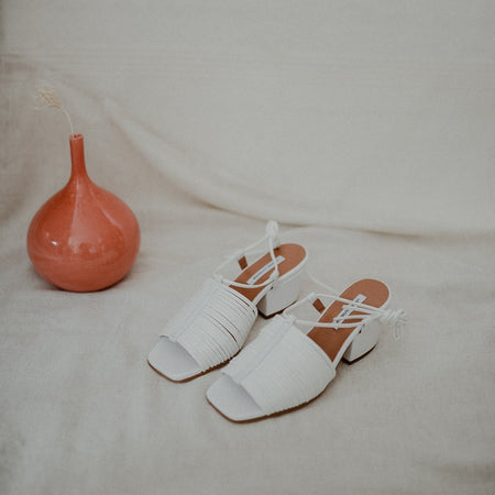 Martin Sandal in White By About Arianne