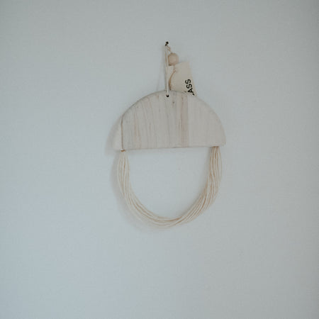 Small Half Moon Maple Wall Hanging By Karcass