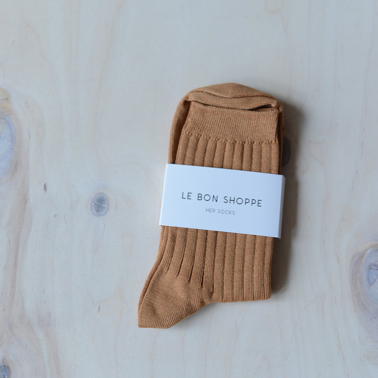 Her Socks (MC cotton) in Peanut Butter By Le Bon Shoppe