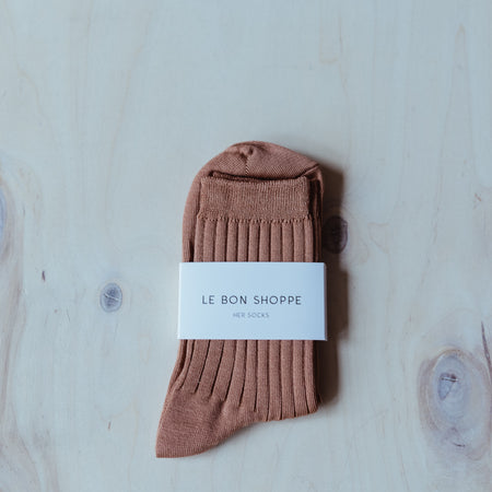 Her Socks (MC cotton) in Nude Peach By Le Bon Shoppe