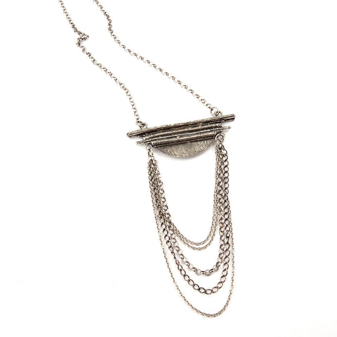 Stellar Necklace in Silver By Hawkly