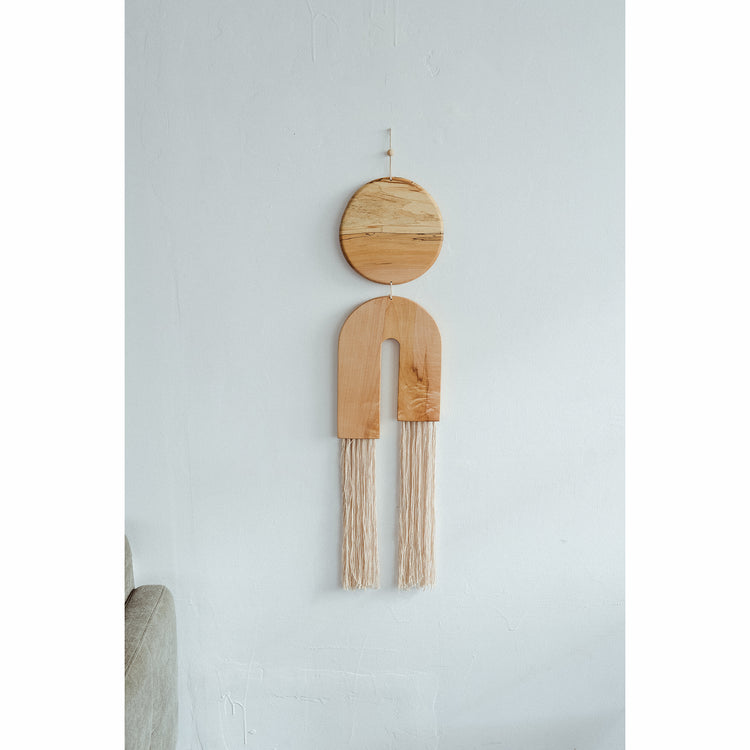 Large Spalted Maple Fringe Wall Hanging  By Karcass