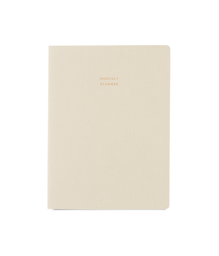 Large Monthly Planner in Natural Linen