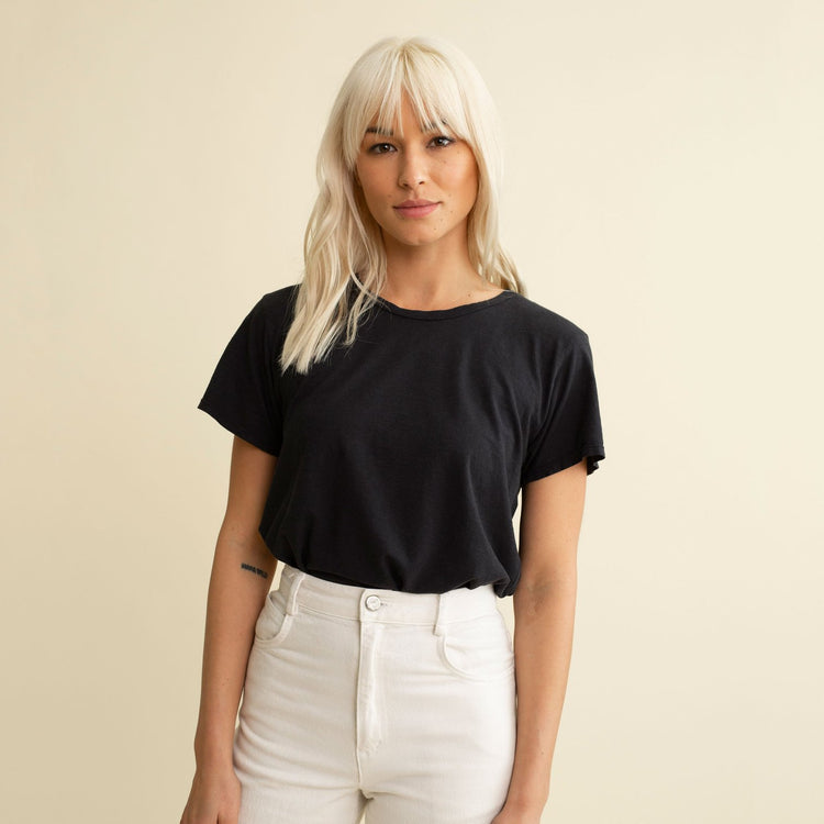 Ojai Tee in Washed Black By Jungmaven