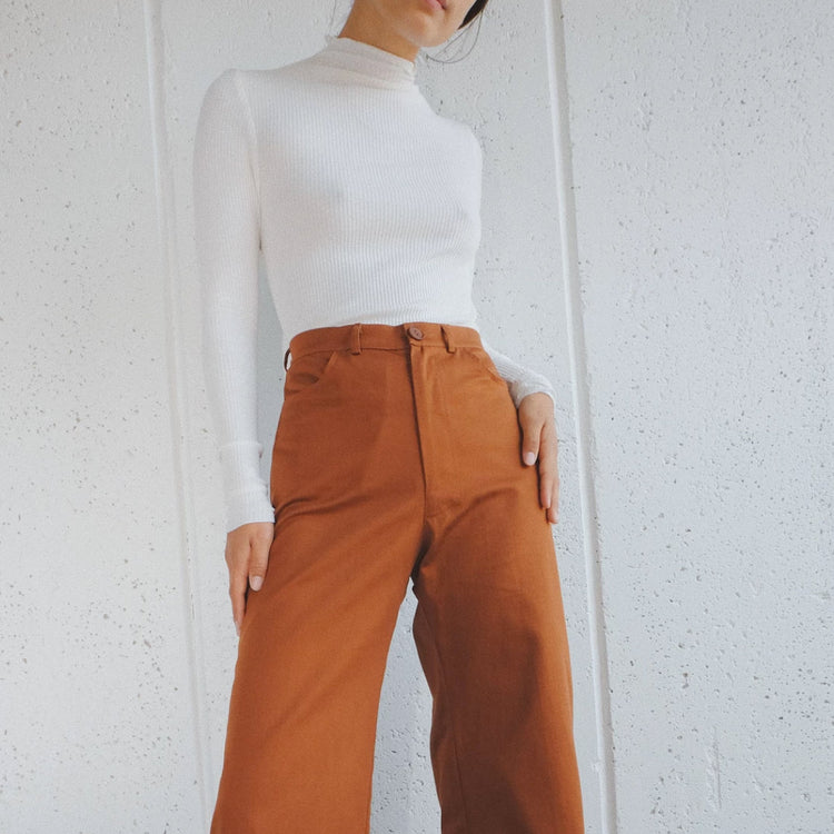 Ollie Pant By Selva Negra in Cacao Twill