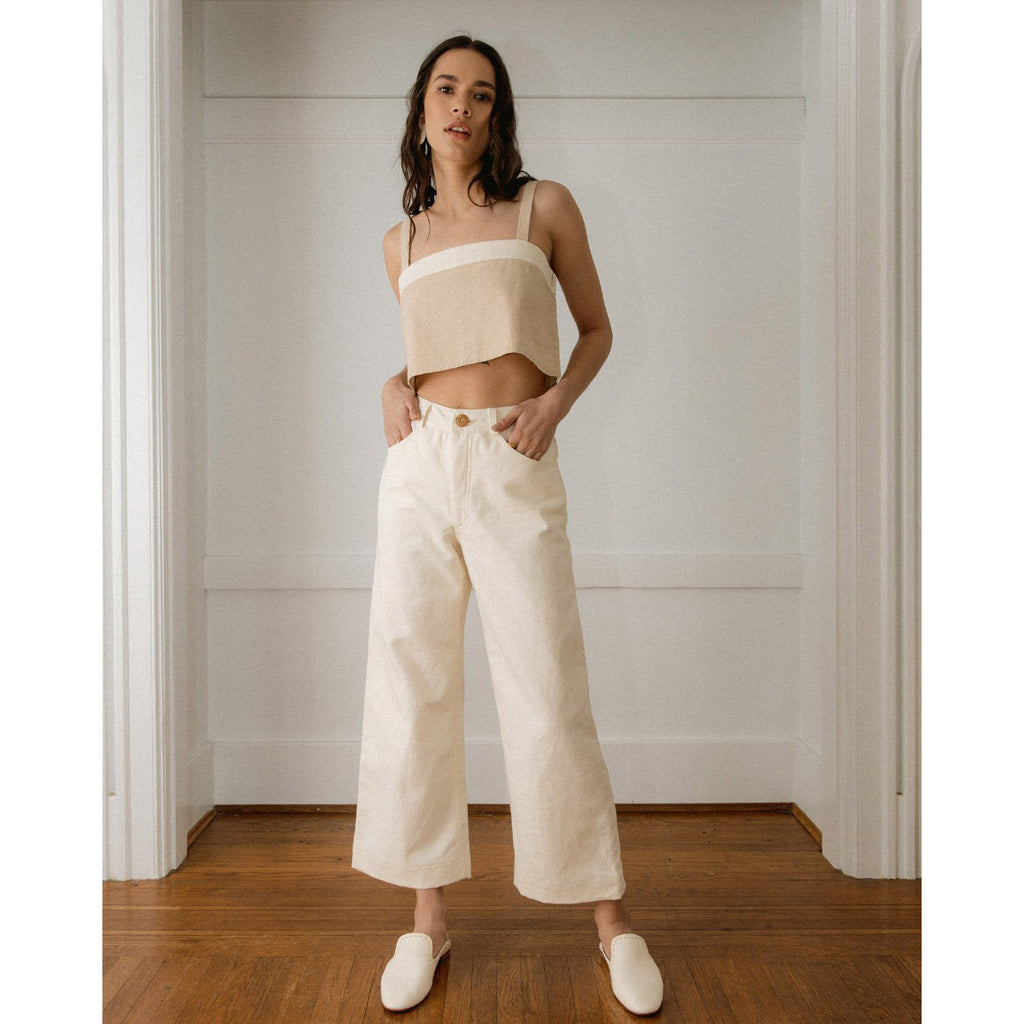 The Pierrot Pants in White by Harly Jae