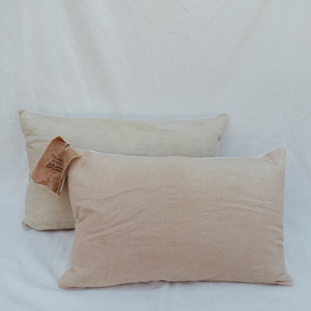 Naturally Dyed Lumbar pillow in Pink By Wild Woven Collection