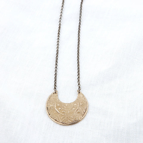 Raja Crescent Necklace in Bronze By Hawkly