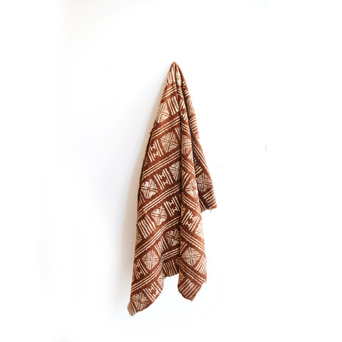 Rust Mudcloth Throw 39