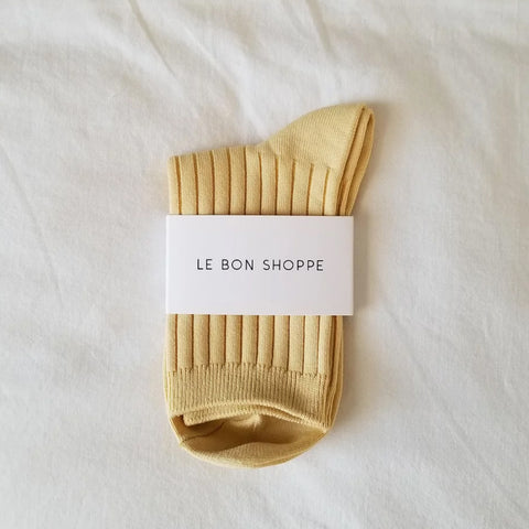 Le Bon Shoppe Socks in Buttercup