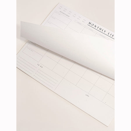 Monthly List Pad By Wilde House Paper