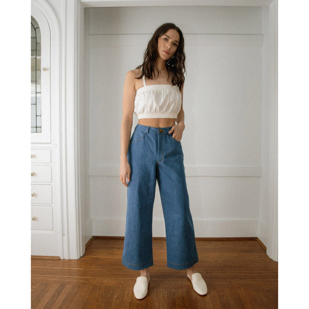 The Pierrot Pants in Denim by Harly Jae