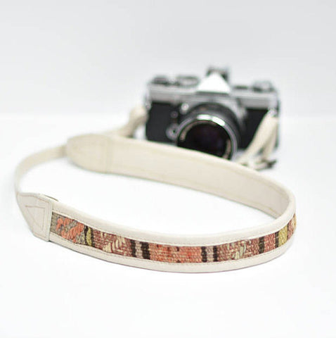 Jolie Laide Sahara Bone White Leather Camera Strap