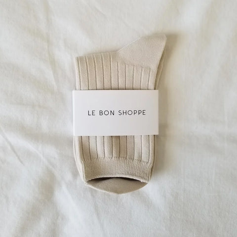 Le Bon Shoppe Socks in Bone