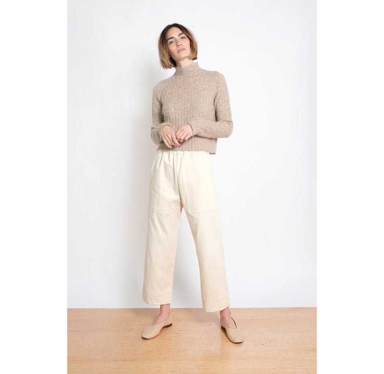 Utility Pant in Cream  By Micaela Greg