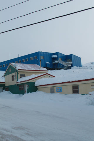 New & Old cape dorset print shop building ! Kinngait coop